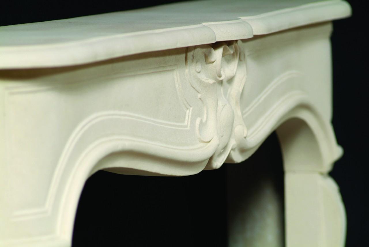 Fine Limestone Fireplace Mantels