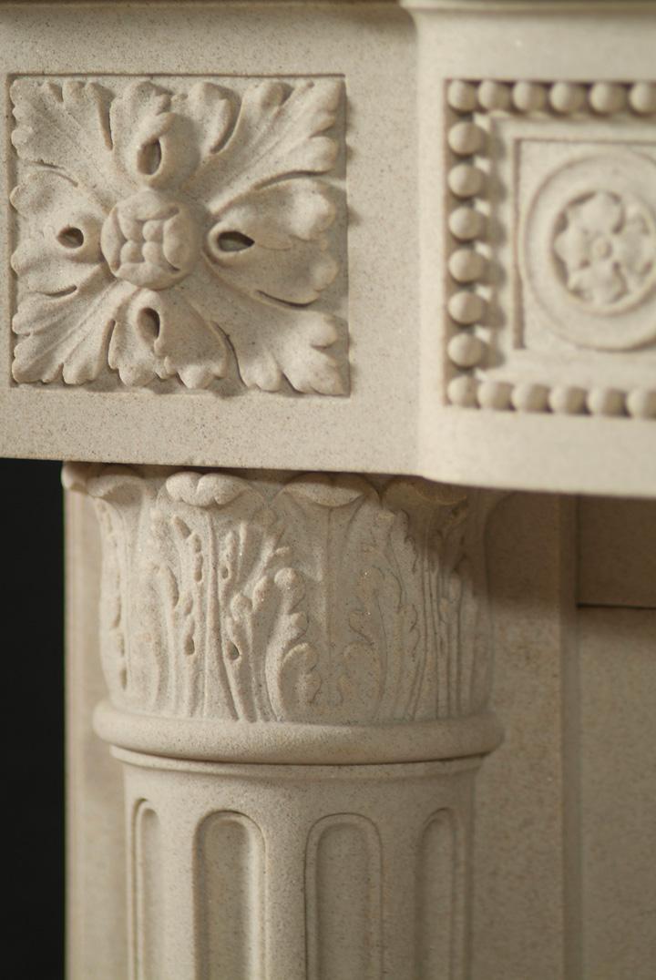 Limestone Louis XVI Mantels