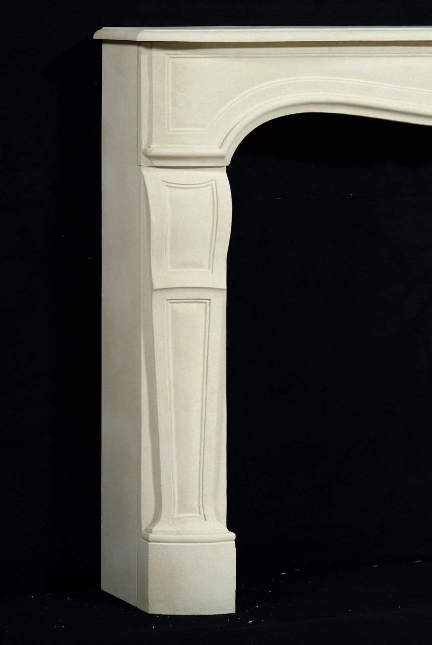 Limestone mantel in Louix XV Styling
