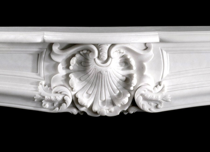 French Marble Mantels - Italian Bianco