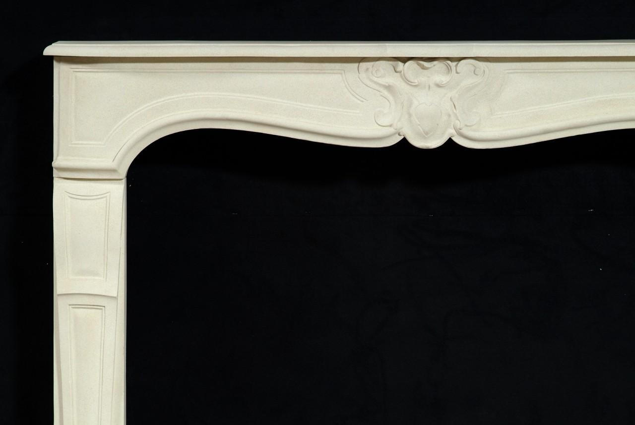 Louis XV Style Marble Mantel - Limestone