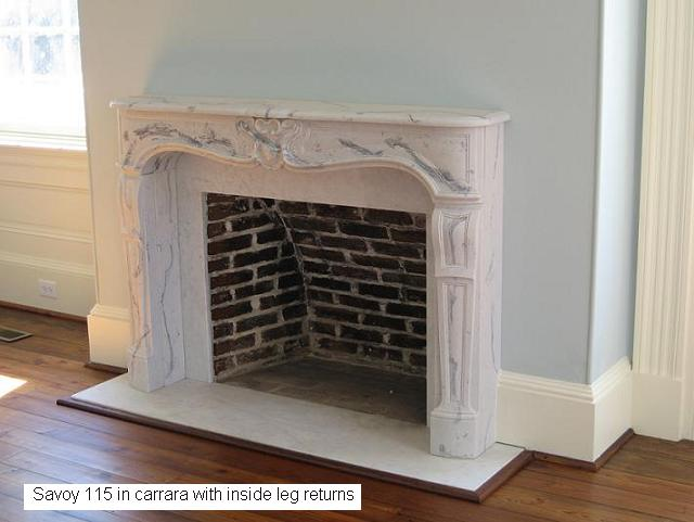 Carrara Marble Mantel Louis XV Styling