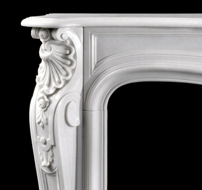 Fine Marble Mantel Details