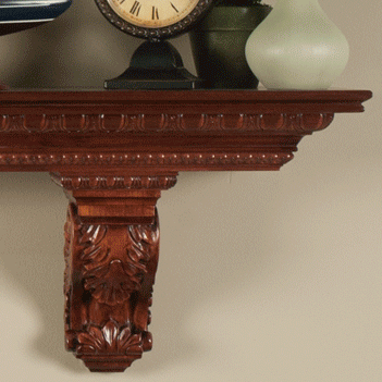 The Athenian Solid Wood Corbel Shelf