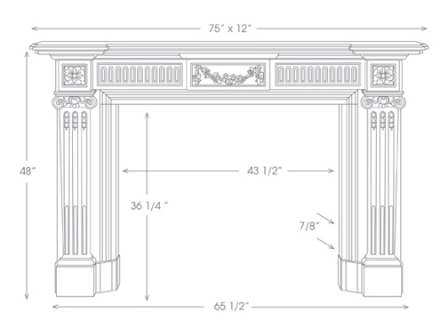 Federal Mantel Illustration Diagram
