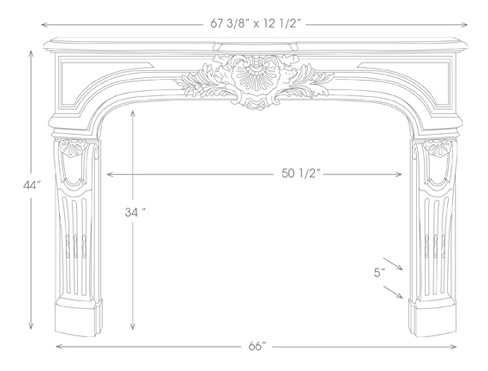 Fontaine Mantel Illustration Diagram