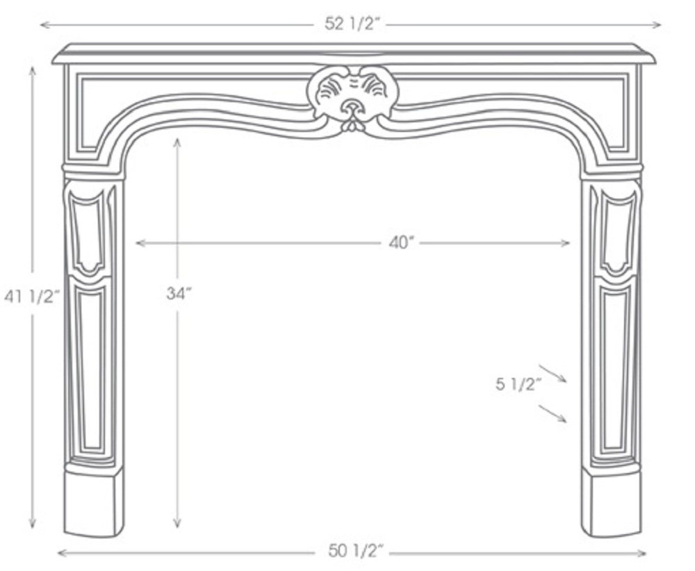 Marble Mantel Sizes And Specifictions