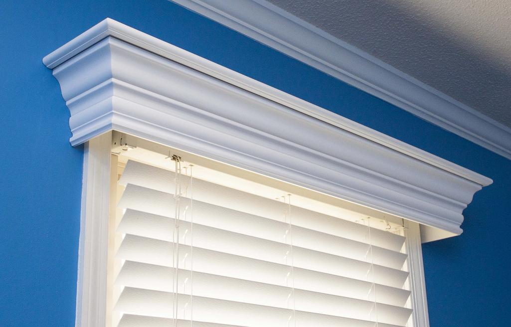 Wood Cornices custom built for windows