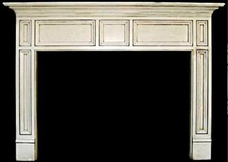 Compton-like mantel with glazed finish