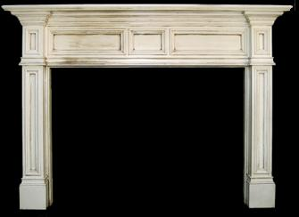 Orland-like mantel with glaze finish