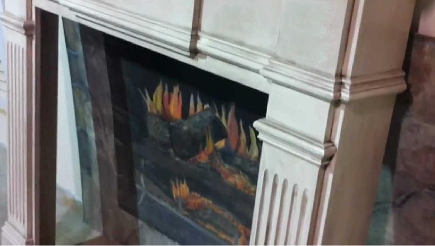 Mantel with Glazed Finish