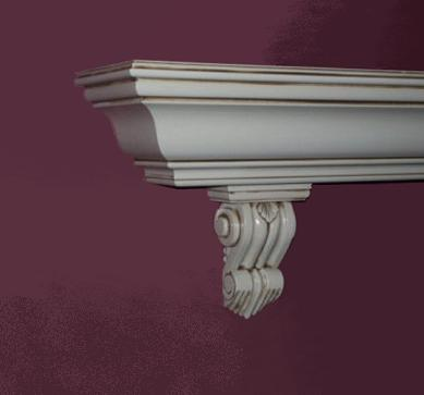 Glazed Mantel Shelf