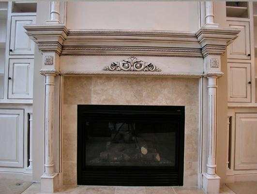 Glazed Finish on Fireplace Mantel | Vancouver like