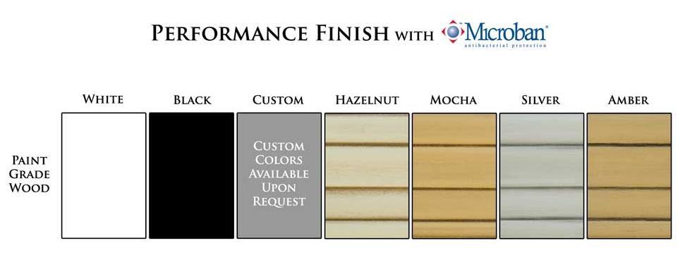 Paint and Glaze Finish Color Chart | Mantels