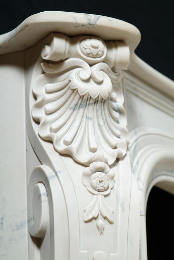 A Cararra Marble Mantel