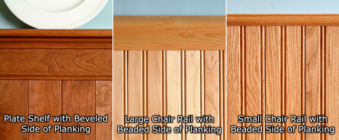 WK29 Wainscoting Components Part Specifications