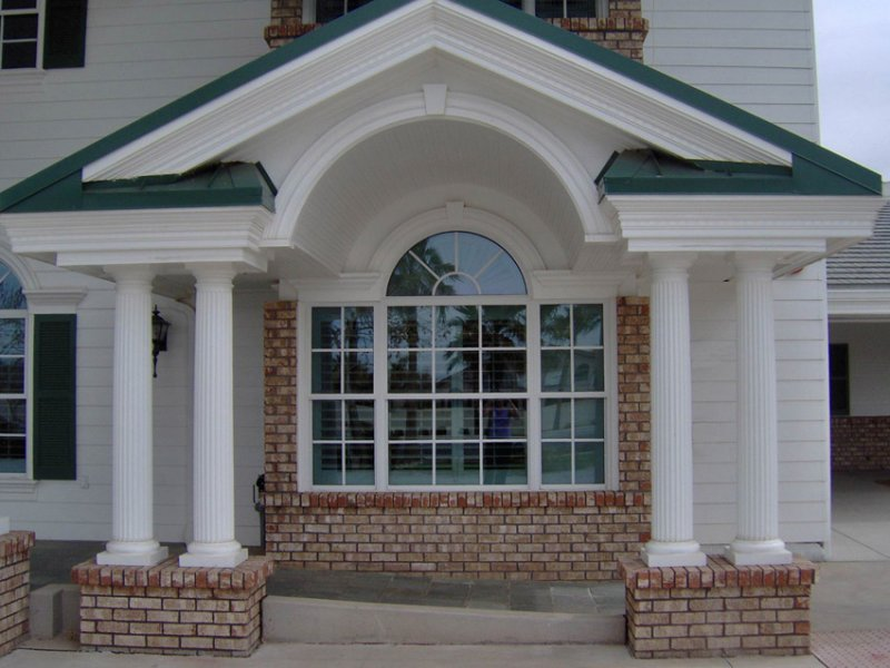 Paired Fluted Columns
