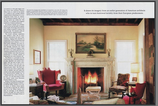 Italian Renaissance Marble Mantel featured in the Architectural Digest Magazine