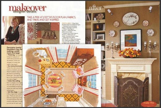Harrisburg Wood Mantel featured in teh Creative Home magazine