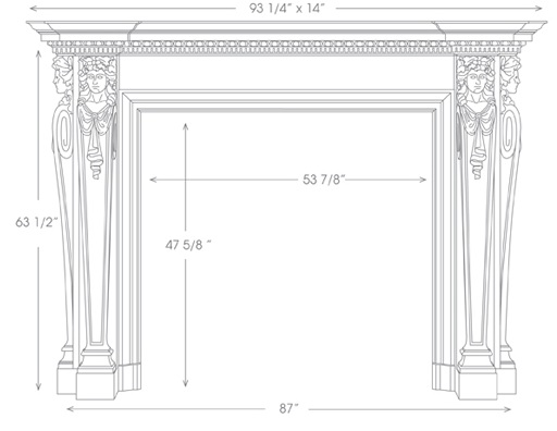 Renaissance Mantel Illustration Diagram