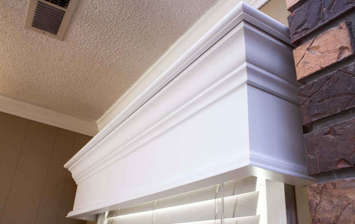 Our Cornices are a wonderful window treatment
