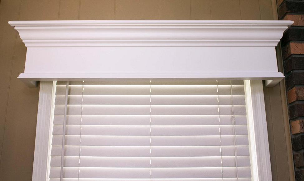 A beautiful window cornice treatment