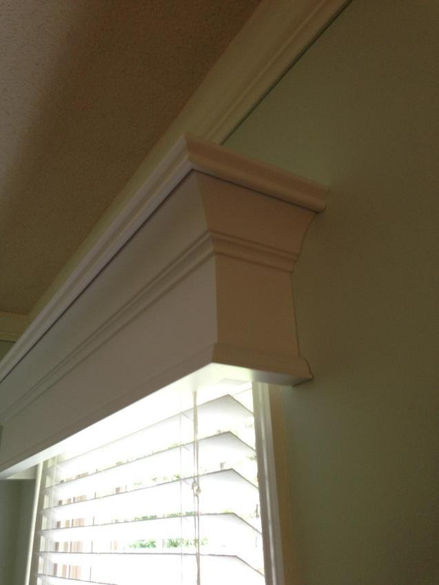 Window Cornices are easy to install
