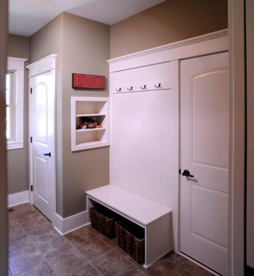 Mud Room with White Beadboard