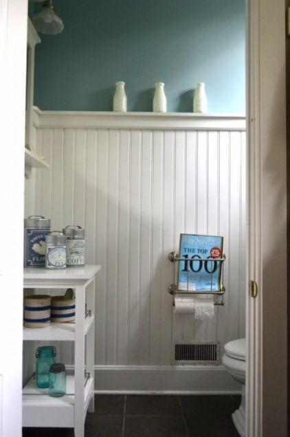 2-inch White Beadboard   Casual Bathroom