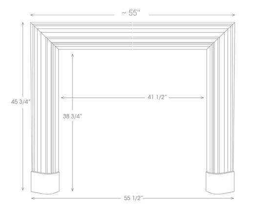 Bolection Mantel Illustration Diagram