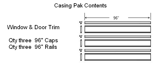 Window and Door Casing Pak Illustration